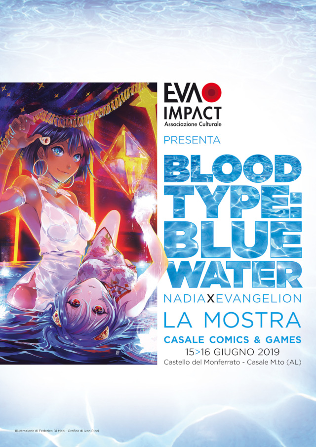 Mostra tributo itinerante Blood Type: Blue Water - Nadia × Evangelion a Casale Comics & Games