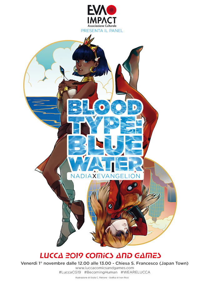 Blood Type: Blue Water – Nadia × Evangelion, il panel - Lucca Comics & Games 2019