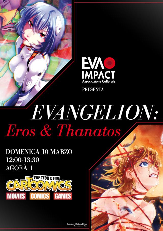 EVA IMPACT al Cartoomics 2019 con Evangelion: Eros & Thanatos – L'universo dei personaggi femminili in Neon Genesis Evangelion (10 marzo 2019)