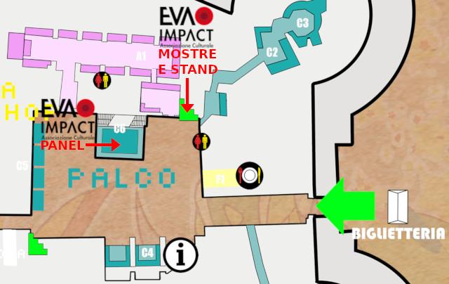 Casale Comics&Games - Mappa che indica mostre, stand e panel di EVA IMPACT