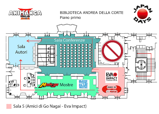 Japan Days 2020 - Mappa con stand EVA IMPACT e mostra Blood Type: Blue Water - Nadia × Evangelion Exhibit