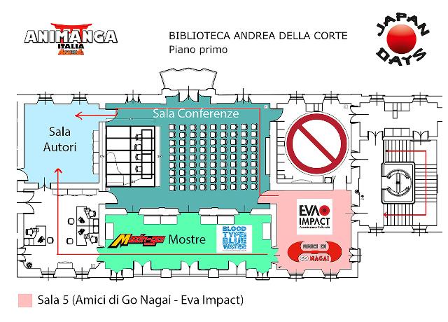 Japan Days 2020 - Mappa con stand EVA IMPACT e mostra Blood Type: Blue Water - Nadia × Evangelion Exhibit