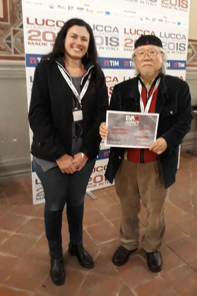 EVA IMPACT conferisce a Leiji Matsumoto il titolo di Amico di EVA IMPACT