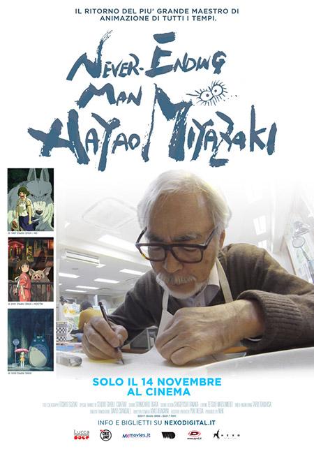 Never-Ending Man - Hayao Miyazaki - Nexo Anime al cinema - Sconti e biglietti omaggio da EVA IMPACT e Nexo Digital