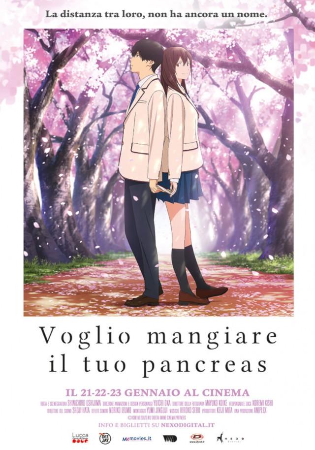 Voglio mangiare il tuo pancreas - Nexo Anime al cinema - Sconti e biglietti omaggio da EVA IMPACT e Nexo Digital