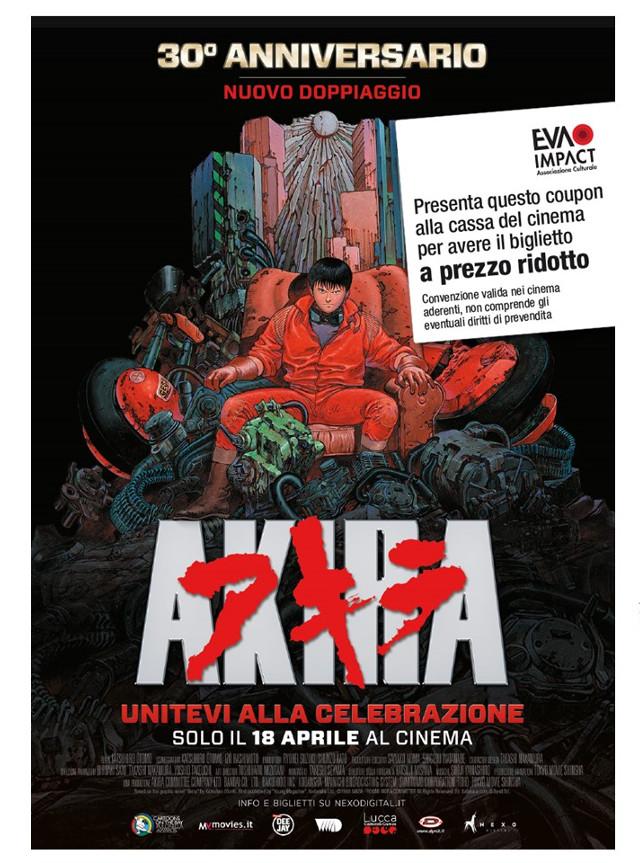 Coupon per un biglietto a tariffa ridotta per Akira - 30° anniversario