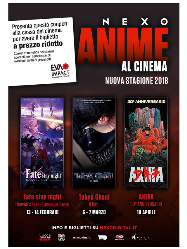 Coupon per un biglietto a tariffa ridotta per Fate/stay night: Heaven's Feel 1. Presage Flower