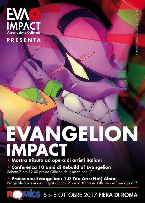 EVA IMPACT al Romics (5-8 ottobre 2017) con mostra, conferenza e proiezione