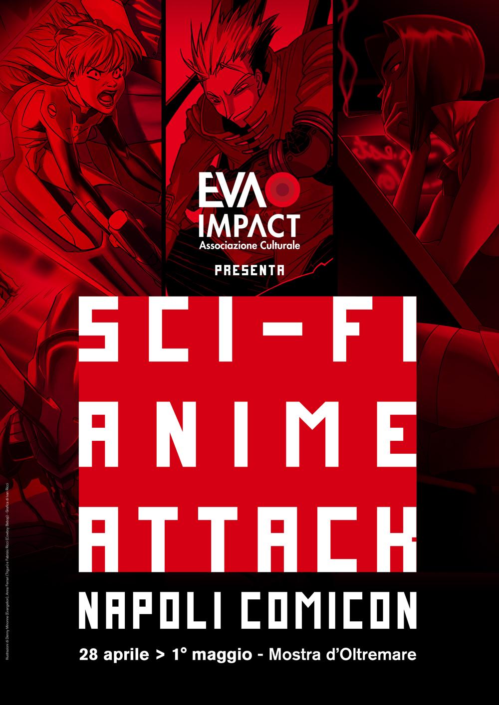 Mostra tributo itinerante Sci-Fi Anime Attack - Evangelion, Cowboy Bebop e Trigun