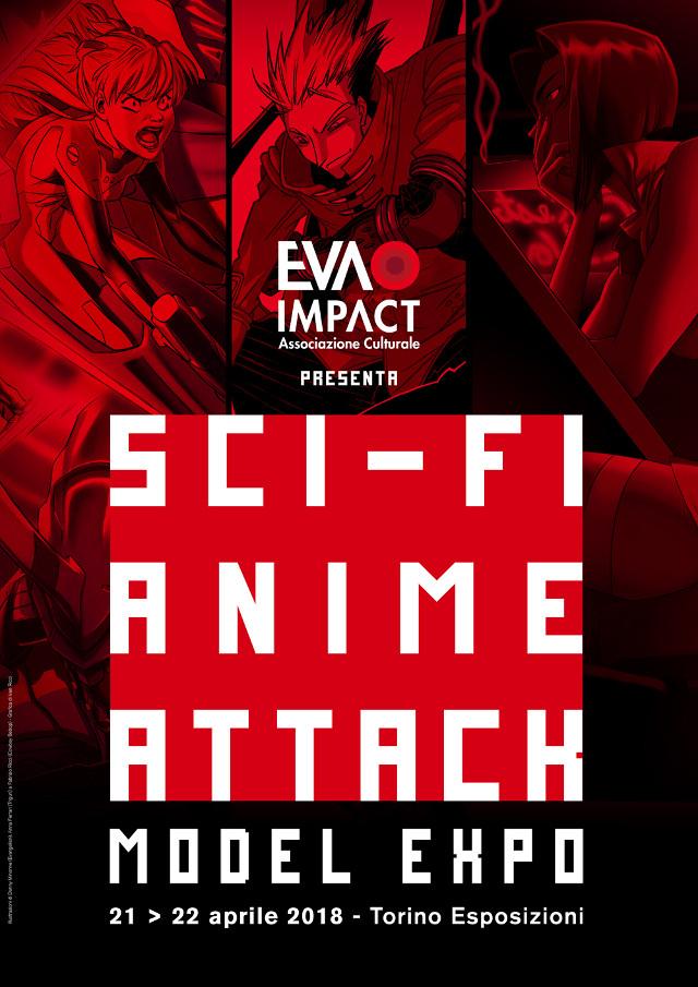 Mostra tributo itinerante Sci-Fi Anime Attack - Evangelion, Cowboy Bebop e Trigun a Model Expo Torino