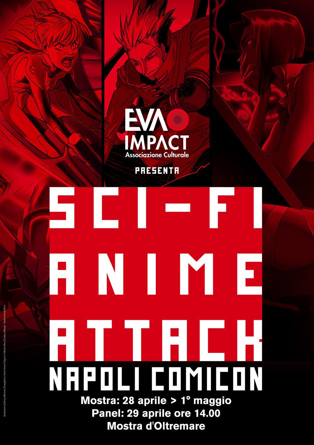 EVA IMPACT presenta Sci-Fi Anime Attack - Evangelion, Cowboy Bebop e Trigun: i tre alfieri del rinascimento anime all'alba del terzo millennio