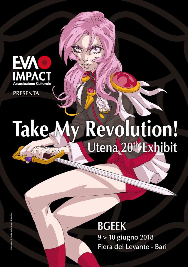 Mostra tributo itinerante Take my Revolution! Utena 20th Exhibit al BGeek di Bari