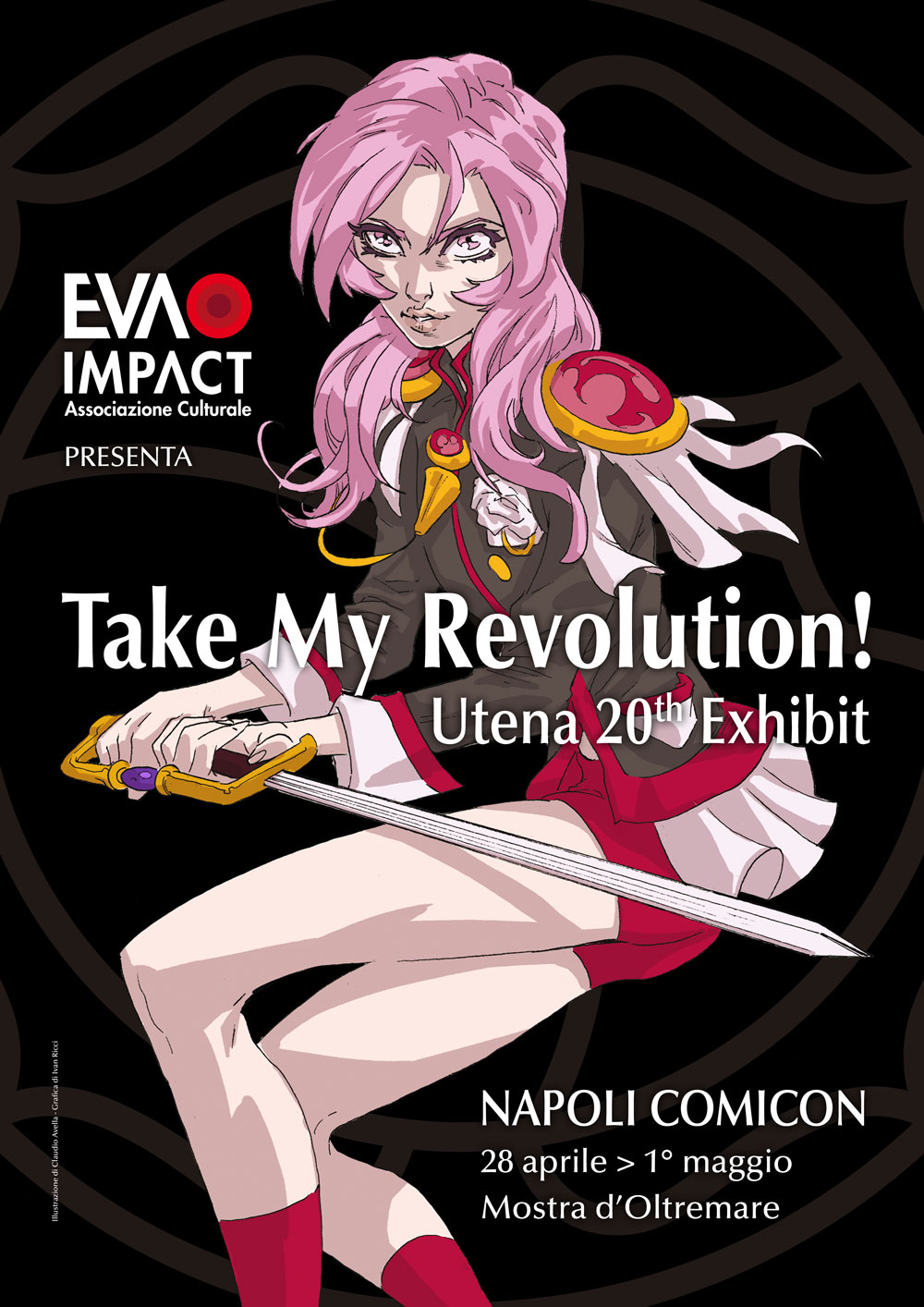 Mostra tributo itinerante Take my Revolution! - Utena a Napoli Comicon